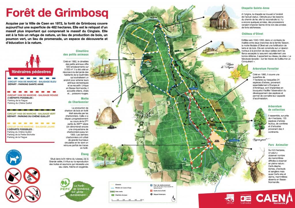 Foret de Grimbosq - Parcours Pédestres
