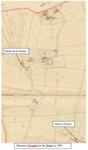 Hameaux Gougeon et des Huets en 1809