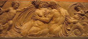 Bas relief « Nymphe et Triton » Musée du Louvre Paris