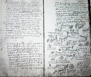 Une page de délibération du Commun datée du 30 mai 1658 Nicolas Bellenger, prêtre, curé de la paroisse, a réuni l'assemblée à l'issue de la messe paroissiale pour répondre à la taxation sur les « francs fiefs et nouveaux acquets, marests, maresquages, communes, et terres vagues » qui vient d'être instaurée... Ils déclarent qu'il n'y a à leur connaissance aucun bien qui répond à ces définitions et que s'il y en avait, ils souhaitent que le « Roy » en prenne possession. Ce texte est suivi d'une série de signatures et marques (pour ceux qui ne savent signer) que Nicolas Bellenger authentifie.