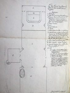 Plan terrier de l'église de Saint Laurent de Condel 12 juin 1766